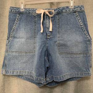 Old Navy drawstring denim shorts